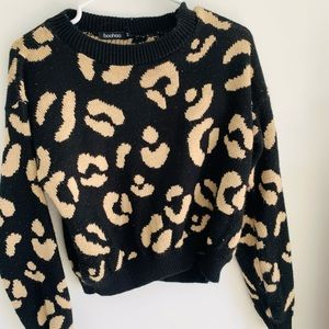 Leopard 2 pc knit wear with Cocoa Butter Formula